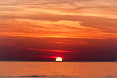 Red sunset. Stock Image