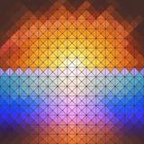 Red sunset, mosaic background vector. Dark design background Stock Photos