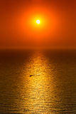 Red sunset over calm sea Royalty Free Stock Images