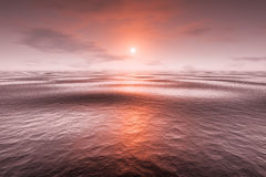 A red sunset over the sea Royalty Free Stock Photo