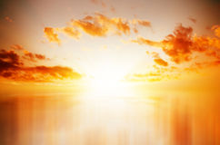 Red Sunset over Sea royalty free stock photo