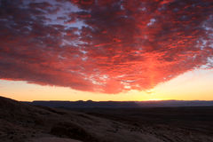 Red sunset over Utah desert Stock Photography