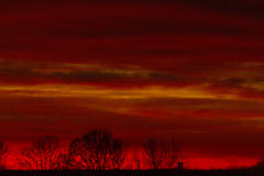Red sunset Royalty Free Stock Photo
