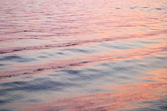 Red sunset reflection on waves Stock Images