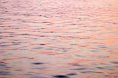 Red sunset reflection on waves Royalty Free Stock Photography