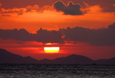 Red sunset and sea Stock Photo
