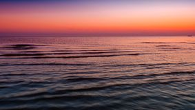 Red sunset at the sea Royalty Free Stock Images