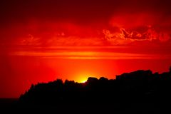 Red Sunset Sky Stock Image