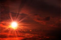 Red Sunset Sky Royalty Free Stock Images