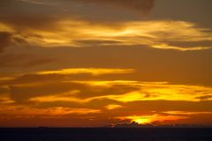 Red sunset sky Stock Photo