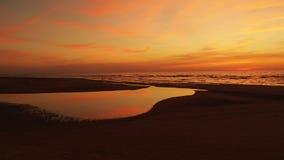 Sunset and orange sky Royalty Free Stock Photography