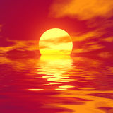 Red sunset. Soft colors. Royalty Free Stock Photography