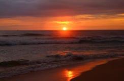 Red sunset, Sri Lanka Stock Photography