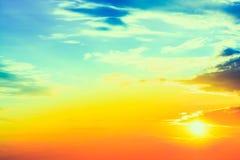 Red sunset, sunrise, sun, clouds Stock Photo