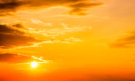 Red sunset, sunrise, sun, clouds Stock Photography