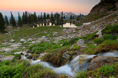 Red sunset in the Wasatch Mountains. Royalty Free Stock Photography