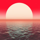 Red sunset on water Stock Photography