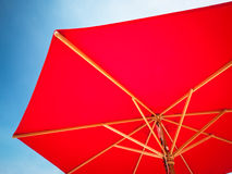 Red sunshade Stock Photos