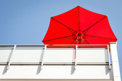Red sunshade Royalty Free Stock Photography
