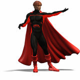 Red super hero #4 Stock Image