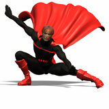 Red super hero #5 Stock Image