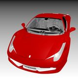The red supercar Royalty Free Stock Photography