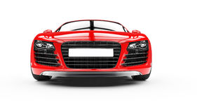 Red Supercar Front Royalty Free Stock Images