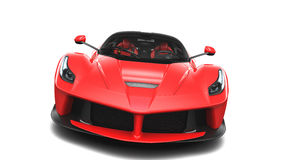 Red Supercar - Front Studio View Stock Photography