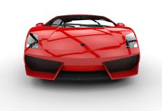 Red Supercar - Front View Stock Image