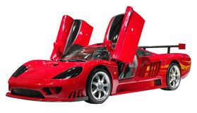 Red supercar. Isolate on white Stock Photo