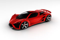 Red supercar. Mechanical engineer addicted to automotive engineering and modeling 3D concept designs followed by fine artwork finishing Royalty Free Stock Photos