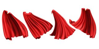 Free Red Superhero Cloaks With Golden Clasp Clipart Set Royalty Free Stock Images - 170077489