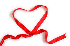 Red Support Ribbon on white background Stock Photo
