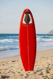 Red surfboard Stock Photo