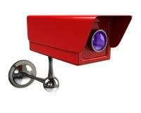 Red surveillance camera Stock Image