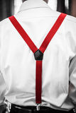 Red  Suspenders Detail Royalty Free Stock Image