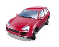 Red suv Royalty Free Stock Photography