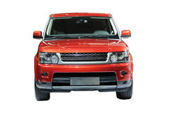Red suv stock photography