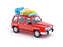 Red SUV adventure Royalty Free Stock Images