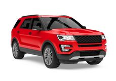 Free Red SUV Car Isolated Royalty Free Stock Photos - 106663738