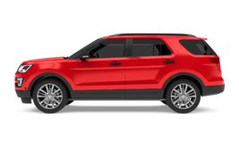 Red SUV Car Isolated Royalty Free Stock Photo