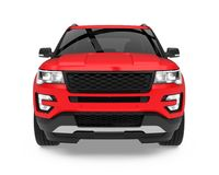 Red SUV Car Isolated Royalty Free Stock Photos