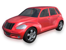Red SUV with Clipping Path Royalty Free Stock Photo