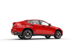 Red SUV - Rear Left View Royalty Free Stock Photos