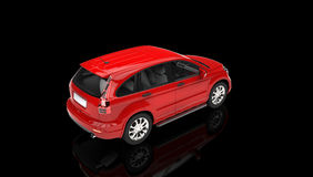 Red SUV in a Showroom Royalty Free Stock Photography