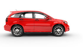 Red SUV - Side View Stock Photo