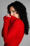 Red Sweater Girl Stock Photos