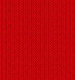 Red Sweater Texture Background. Vector Royalty Free Stock Photography