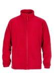 Red sweatshirt fleece for man. Isolated on white background Stock Image