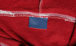 Red Sweatshirt Label Royalty Free Stock Image